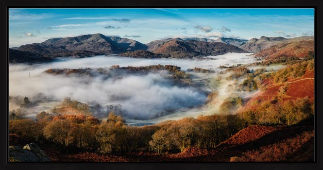 Great Langdale Misty Morning - Modern Print