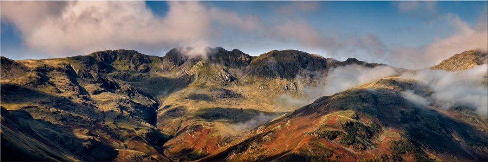 Crinkle Crags from Great Langdale - Canvas Print