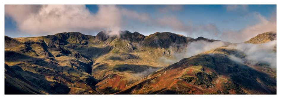 Crinkle Crags from Great Langdale - Lake District Print