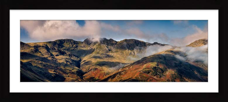 Crinkle Crags from Great Langdale - Framed Print