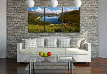 Summer at Grasmere - 3 Panel Canvas on Wall