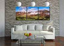 Misty Mountains of Langdale - 3 Panel Canvas on Wall