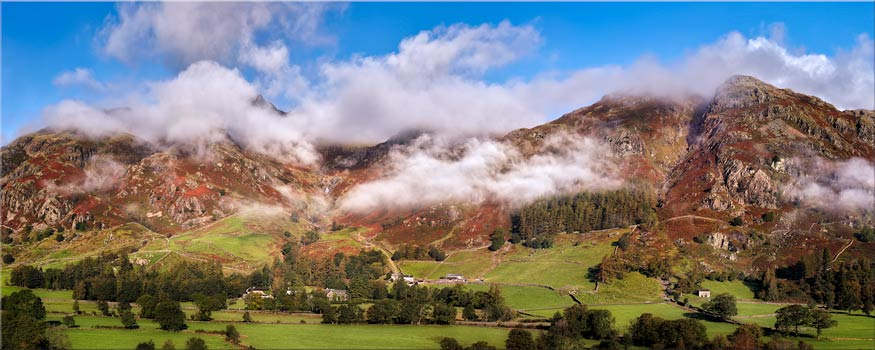 Misty Mountains of Langdale - Canvas Print