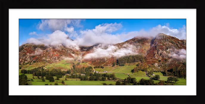 Misty Mountains of Langdale - Framed Print with Mount