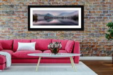 Misty Grasmere - Framed Print with Mount on Wall