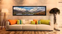 Grasmere Rainbow - Black oak floater frame with acrylic glazing on Wall