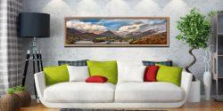 Grasmere Rainbow - Oak floater frame with acrylic glazing on Wall
