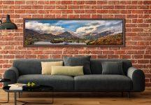 Grasmere Rainbow - Walnut floater frame with acrylic glazing on Wall