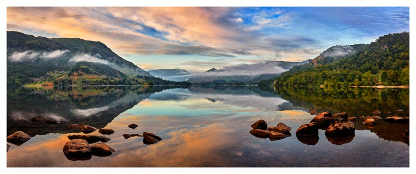 Ullswater Morning Mists - Lake District Print