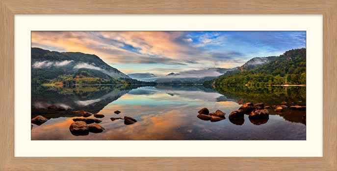 Ullswater Morning Mists - Framed Print with Mount