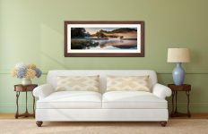 River Brathay Misty Panorama - Framed Print with Mount on Wall