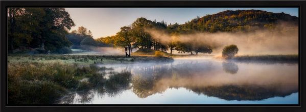 River Brathay Misty Panorama - Modern Print