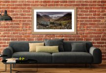 Warnscale Bothy - Framed Print with Mount on Wall