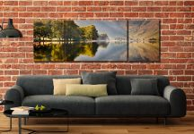 Hazy Days at Buttermere - 3 Panel Wide Mid Canvas on Wall