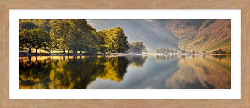 Hazy Days at Buttermere - Framed Print with Mount