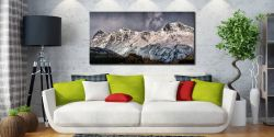 Snow on the Langdales - Canvas Print on Wall