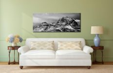 Snow on the Langdale Pikes - Canvas Print on Wall