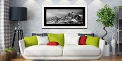 Snow on the Langdale Pikes - Framed Print with Mount on Wall