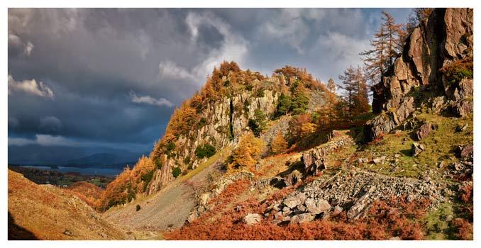 Castle Crag Autumn Sunshine - Lake District Print