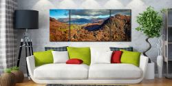 Derwent Water from Castle Crag - 3 Panel Wide Mid Canvas on Wall