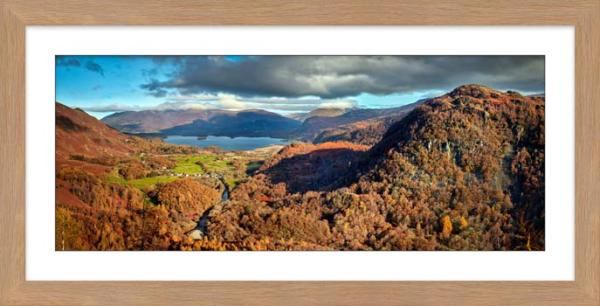 Derwent Water from Castle Crag - Framed Print with Mount