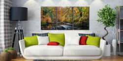 Golden Trees of Eskdale - 3 Panel Canvas on Wall