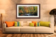 Manesty Park in Autumn - Framed Print with Mount on Wall