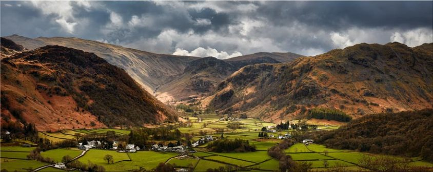 Borrowdale Pastures - Lake District Canvas
