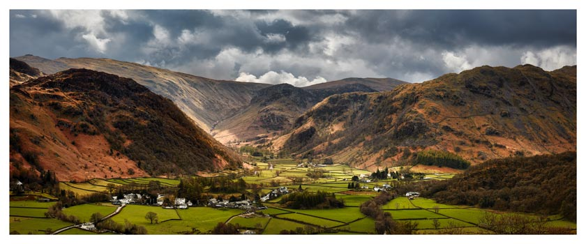Borrowdale Pastures - Lake District Print