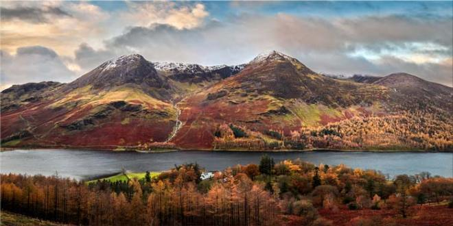 High Stile and High Crag in Autumn - Canvas Print