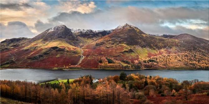 High Stile and High Crag in Autumn - Canvas Print