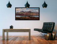 High Stile High Crag in Autumn - Black oak floater frame with acrylic glazing on Wall