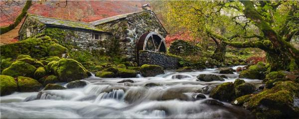 Borrowdale Mill Panorama - Canvas Print