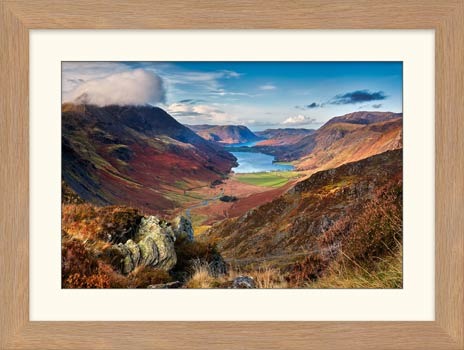 Buttermere Valley from Hay Stacks - Framed Print with Mount