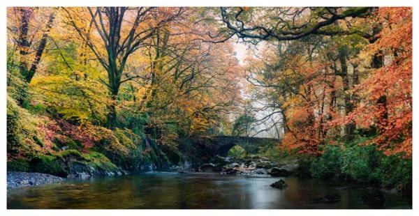 River Esk Bridge in Autumn - Lake District Print
