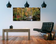Autumn Woodlands of Eskdale - 3 Panel Canvas on Wall