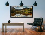 The Greens of Buttermere - Black oak floater frame with acrylic glazing on Wall