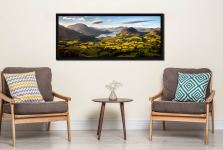 Wonderful view down the Buttermere valley from Loweswater Fell on a summer's morning - Black oak floater frame with acrylic glazing on Wall