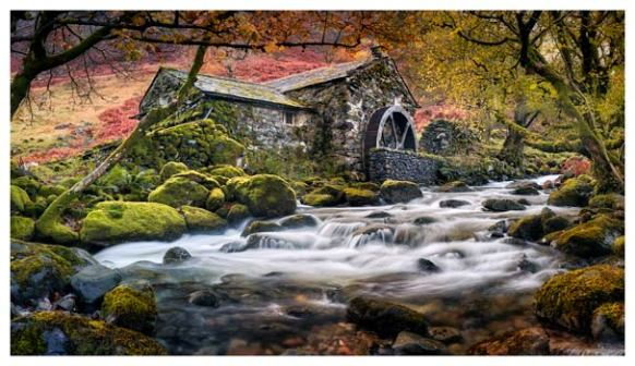 Borrowdale Mill - Lake District Print