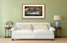 Borrowdale Mill - Framed Print with Mount on Wall