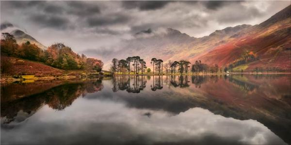 Grey Skies Over Buttermere - Canvas Print