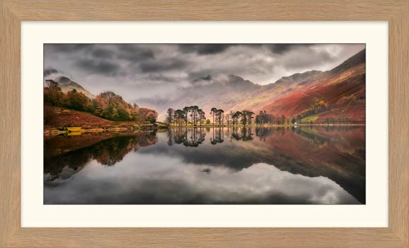 Grey Skies Over Buttermere - Framed Print with Mount