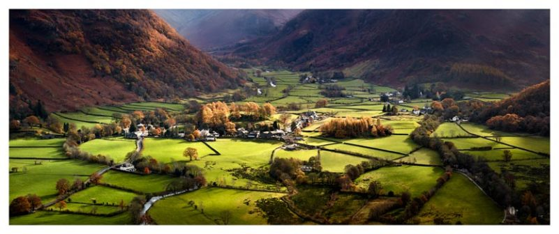 Autumn Colours of Borrowdale - Lake District Print