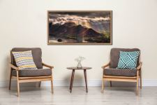 Sunshine and Showers on Cat Bells - Oak floater frame with acrylic glazing on Wall