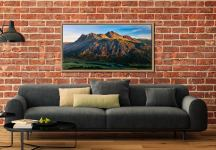 The Langdale Pikes in the Morning Light - Oak floater frame with acrylic glazing on Wall