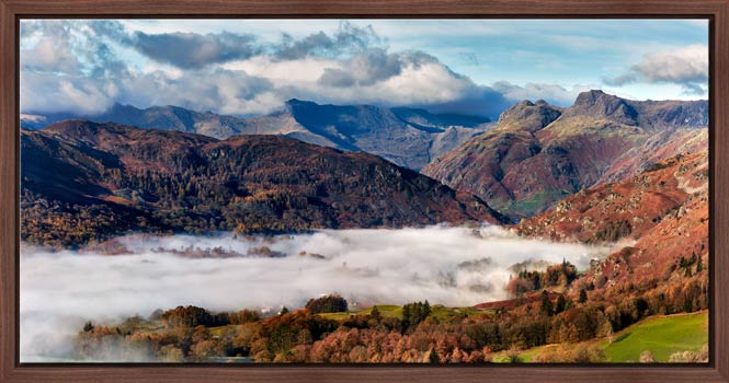 Great Langdale Mountains and Mist - Modern Print