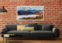 Great Langdale Mountains and Mist - White Maple floater frame with acrylic glazing on Wall
