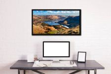 Ullswater From Harrison Crag - Black oak floater frame with acrylic glazing on Wall