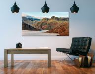 Golden Langdale Pikes - Print Aluminium Backing With Acrylic Glazing on Wall