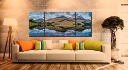 High Stile and High Crag - 3 Panel Wide Mid Canvas on Wall